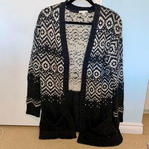 Mid-length Knit Cardigan